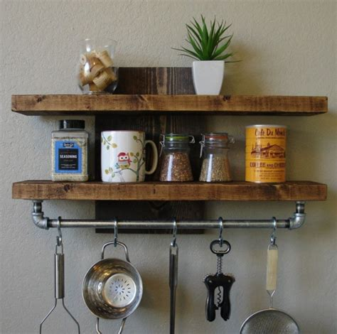 perfect wall mounted pot rack loccie  homes gardens ideas