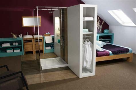chambre avec italienne chambre avec salle de bain fusion d 39 espaces harmonieuse
