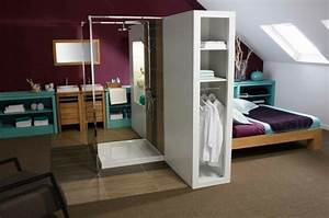 amenagement chambre avec dressing et salle de bain With amenagement chambre avec dressing et salle de bain