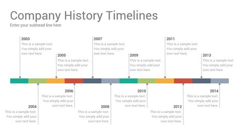 history timeline template company history timelines diagrams powerpoint presentation template
