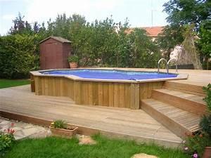 Bois Pour Terrasse Piscine : terrasse piscine semi enterree nos conseils ~ Edinachiropracticcenter.com Idées de Décoration