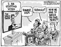 Editorial cartoon: Jon Stewart steps down - The Boston Globe