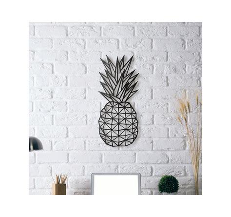 decoration murale metal accessoires deco metal decoration pineapple artwall and co