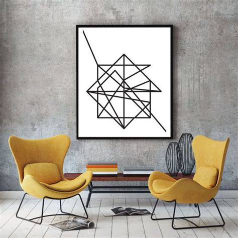 wire modern minimalist poster print abstract