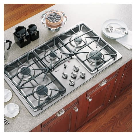 ge profile    burner gas cooktop color stainless steel  lowescom