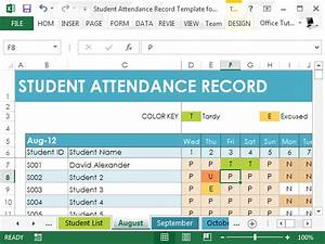 student attendance record template for excel With student information system template