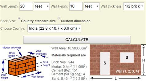 roofing material types brick calculator how to calculate bricks in a wall