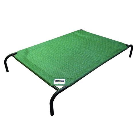 27419 coolaroo elevated pet bed coolaroo large size steel pet bed brunswick green 317287