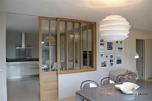 Verrière Intérieure Ikea : cuisine ouverte d limit e par une verri re ou un lot bar ~ Melissatoandfro.com Idées de Décoration