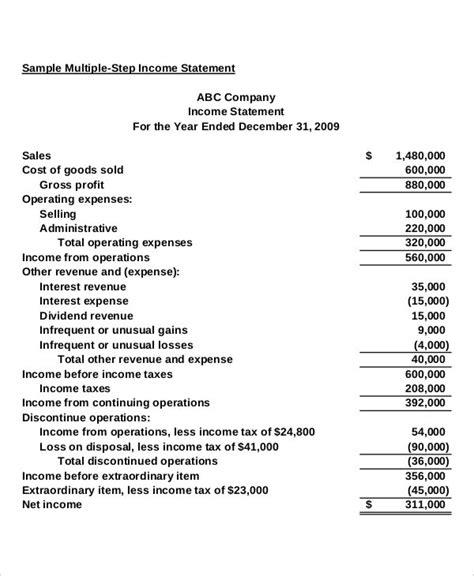 multi step income statement bravebtr