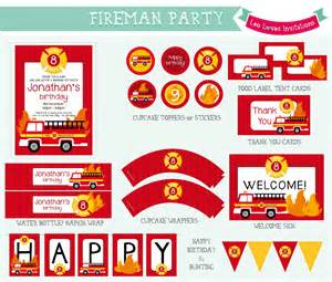 Water Bottle Sheet Template Fireman Printable Leo Invitations