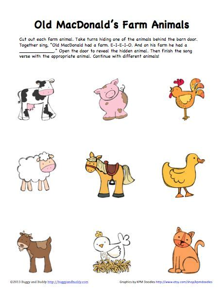 peek  boo farm animals activity  printable farma