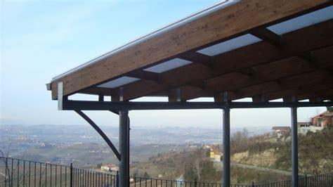tettoia in ferro e policarbonato pensilina in ferro legno lamellare e copertura in