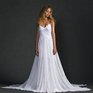 2016 white bohemian lace wedding dresses a line spaghetti With a line boho wedding dress
