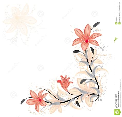floral element  design  lily vector stock images