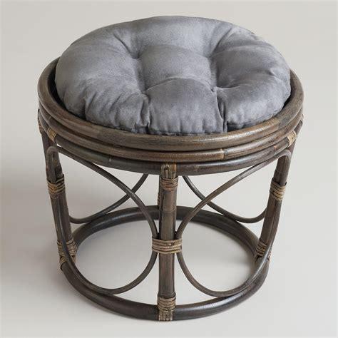 world market chair cushion charcoal microsuede papasan stool cushion world market