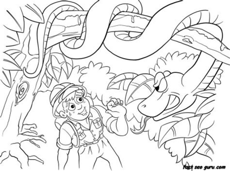 print  jungle snake  boy coloring pages printable