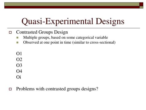 quasi experimental design ppt research design part ii cross sectional and quasi