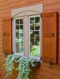 wood exterior shutters Doors & Windows: Exterior Natural Wood Shutters, Exterior Wood Shutters With 16 Application ...