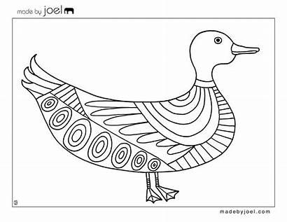 Coloring Duck Sheet Printable Template Sheets Joel
