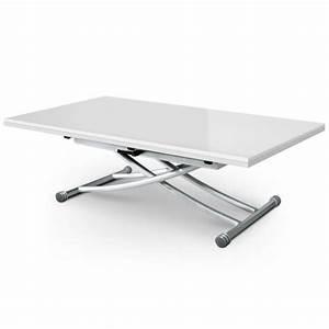 Table Basse Relevable Blanc Laqué : table basse relevable carrera xl blanc laqu ~ Teatrodelosmanantiales.com Idées de Décoration