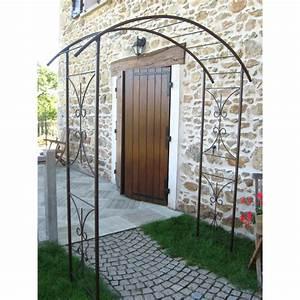 Arche De Jardin En Fer Forgé : votre arche de jardin double volut en acier jardin et ~ Premium-room.com Idées de Décoration