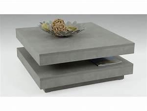 Table Basse Carrée : table basse moderne carr e pivotante b ton ~ Teatrodelosmanantiales.com Idées de Décoration