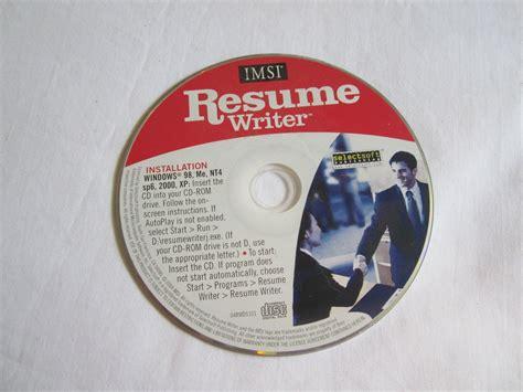 resume writer imsi cd rom windows 98 me nt4 sp6 2000 xp
