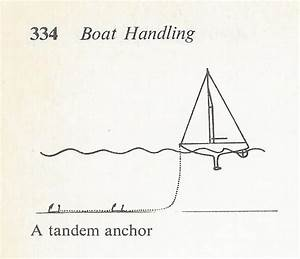 Sail Delmarva  The Tradition Of Tandem Anchors