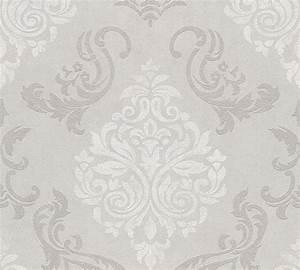 tapete vlies ornamente glitzer taupe as creation 95372 1 With balkon teppich mit ornament tapete weiß