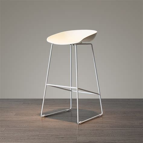 fashion design plastic  metal steel bar stool bar chair