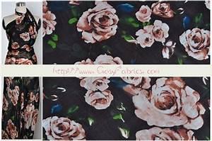 Stoff Mit Rosenmuster : stoff retro chiffon seide stoff rosen stoff retro stoff blumen ein designerst ck von ~ Buech-reservation.com Haus und Dekorationen