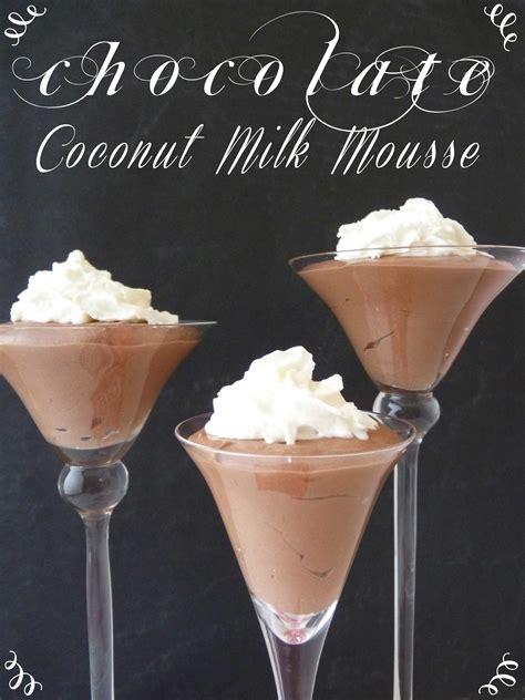 chocolate coconut milk mousse tgif  grandma  fun