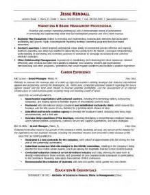 brand manager resume templates brand manager resume berathen