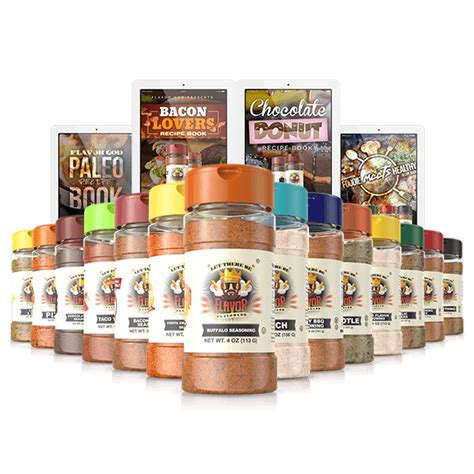 Pered Chef Spice Rack by Flavor God Home Of Fresh Healthy Seasonings