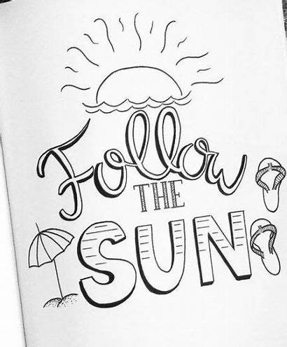 Quotes Summer Drawing Trendy Doodle Sun Lettering