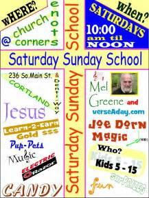 Sunday School Invitation Flyer Examples