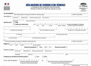 Document Cession Vehicule : certificat de cession cerfa 13754 gratuit pour la vente d 39 un v hicule ~ Gottalentnigeria.com Avis de Voitures