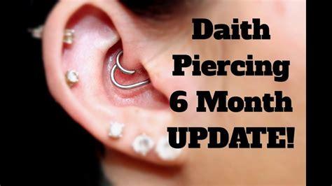 depth daith piercing update  months youtube