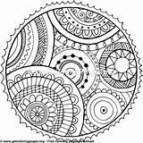 Circle Coloring Pages Mandala Printable Designs Getcoloringpages sketch template