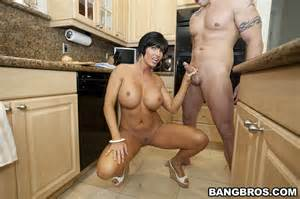 shay fox having hot sex in the kitchen milf fox