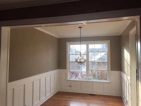 Drywall Wainscoting by Board And Batten Style Wainscot Drywall Repair