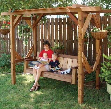 free swing arbor plans woodwork city
