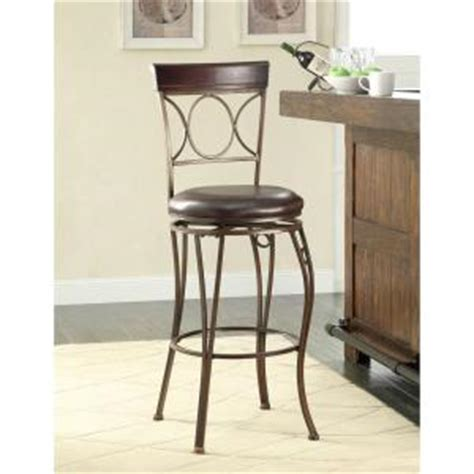low back swivel counter stools home decorators collection circles back swivel counter 9065