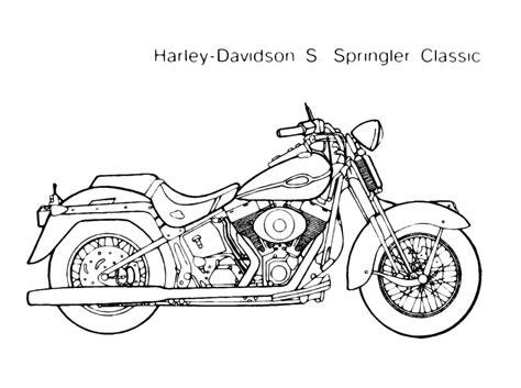 moto harley davidson  springler disegno da colorare