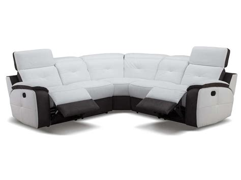 canape relax electrique conforama canapé d 39 angle relaxation électrique en cuir orlando coloris blanc gris vente de canapé tissu