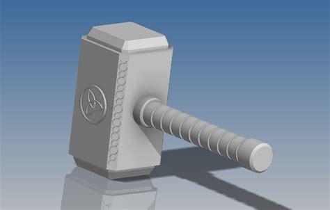 3d printed mjolnir hammer of thor by 3d orzel pinshape