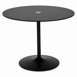 Table Ronde Aluminium : table design ronde milan en verre et m tal 100 cm noir ~ Teatrodelosmanantiales.com Idées de Décoration