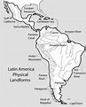 Physical Map Of Northeast Us North And Central America ...