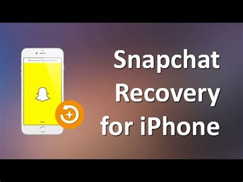 snapchat for iphone how to recover snapchat photos and on iphone x 8 7